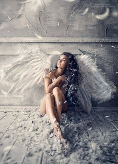 I really like this photo because it looks like it represents a fallen angel, I think the photo has been edited really well to create the wings and the texture of the background particularly the walls.