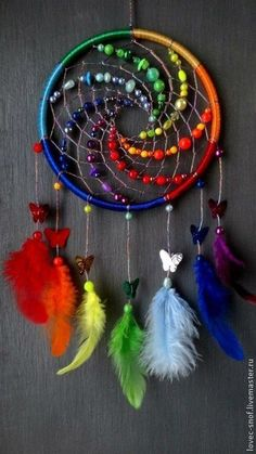 Dreamcatcher, Boho Dreamcatchers, Flower Dreamcatcher, Modern Wall Hanging, Boho… - Famous Last Words Fun Crafts, Diy And Crafts, Arts And Crafts, Los Dreamcatchers, Crochet Dreamcatcher, Beautiful Dream Catchers, Craft Projects, Projects To Try, Pony Bead Projects