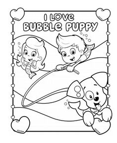 bubble guppies i love bubble puppy coloring pack bubble guppies partychildren cartooncoloring pagesnick jrproject