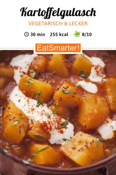 Goulash vegetarian: Goulash prátaí – níos cliste – Calories: 255 kcal – Am: 3 … Veggie Recipes, Healthy Dinner Recipes, Vegetarian Recipes, Couscous, Eating Habits, Healthy Cooking, Good Food, Food And Drink, Eating Clean
