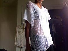 Easy! DIY Shredded Tshirt!