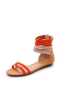 Baby Flat Suede Sandals / Rebecca Minkoff