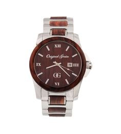 Stainless Steel & Rosewood Watch by Original Grain on Scoutmob Shoppe. A slick stainless steel watch with real wood details.