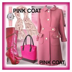 Pink coat by amisha73 on Polyvore featuring moda, Courrèges, Alexander McQueen and Art Addiction