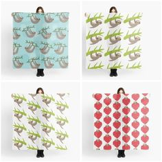Scarf with #sloths http://www.redbubble.com/people/ekaterinap/shop