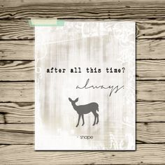 Harry Potter Quote after all this time Always by EllesLittleShop, $8.00