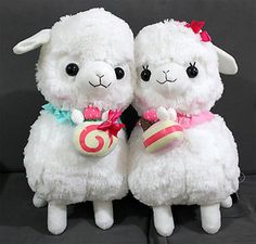 Japan Amuse Arpakasso Alpacasso Alpaca Plush Doll 40cm Cake - Boy & Girl (White)