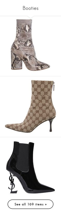 """""""Booties"""" by styledbyro ❤ liked on Polyvore featuring shoes, boots, ankle booties, ankle boots, python boots, snake print booties, python booties, short boots, brown and stacked heel booties"""
