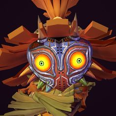 I'm a huge Zelda fan and Majora's Mask is one of my favorite. Skull Kid is such an awesome character and I loved his story. Super happy with how this turned out! Super Happy, Legend Of Zelda, Naruto, Nintendo, Geek Stuff, Skull, Hero, Kid, Artwork