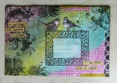 Nice mail art envelope with address frame