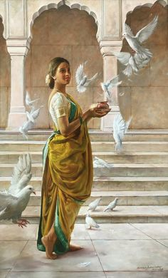 Artist Ramesh Nanware's To The Temple 2 Painting Online. Yellow oil Painting by Ramesh Nanware on Canvas, Figurative based on theme Ramesh. Indian Women Painting, Indian Art Paintings, Classic Paintings, India Painting, Woman Painting, Art Drawings, Art Sketches, India Art, India India