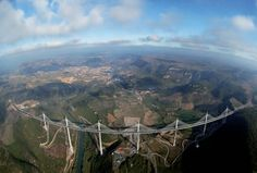 The Millau Viaduct, Tarn Valley, France. Built 2004, by Foster + Partners