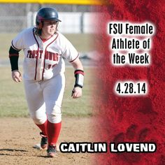 Instagram user @frostburgsports wants to congragulate Caitlin Lovend on being named Female Athlete of the Week! #instaFrostburg