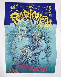 Radiohead at Slim's  Silkscreen  color variant. Copyright John Seabury.