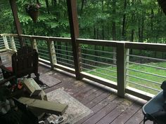 New Hand Rail for Our Deck Made Out of Conduit