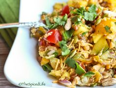 salad, indian snacks