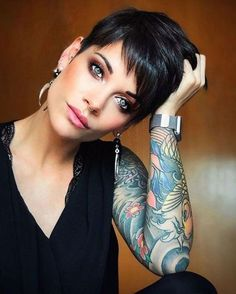 Sweet and Sexy Pixie Hairstyles for Women HairStyles pixie haircut Pixie Bob Haircut, Haircut For Thick Hair, Short Pixie Haircuts, Cute Hairstyles For Short Hair, Hairstyles Haircuts, Haircut Short, Trendy Hairstyles, Black Hairstyles, Pixie Haircut Styles