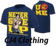 John Cena Kids Blue Ten Years Strong Costume Hat T-shirt Wristbands Boys Wwe Shirts, Wrestling Shirts, Wrestling Party, S Shirt, Sweater Shirt, Shirt Men, John Cena Costume, Blue Costumes, Knit Fashion