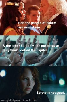 A little Catching Fire foreshadowing #katniss #presidentsnow #hungergames #meangirls