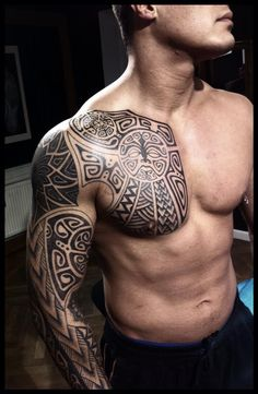 Polynesian project, chest finished by *Meatshop-Tattoo on deviantART