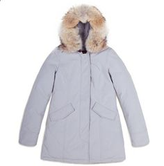 this coat on a platnum blonde... you could literally run the world.  woolrich