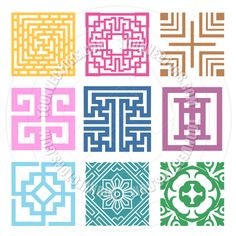 Plaid Geometric Pattern Designs