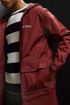 Stussy Contrast Stitch Parka Jacket