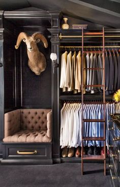 Will Kopelman closet via AD, photo Lisa Romerein