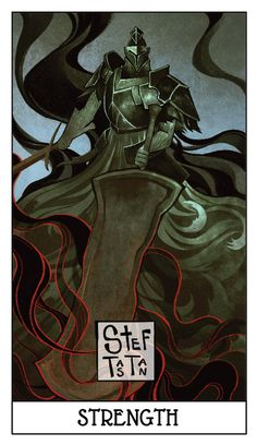 Dark Souls Tarot Cards version 2.0 - Part 1 A slight makeover :) Simpler nameplate and adjusted overall color palettes.
