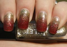 Chinese New Year Gradient (China Glaze Ring in the Red and Julep Oscar)