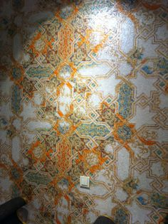 Morrocan style, old, vintage looking, wallpaper.