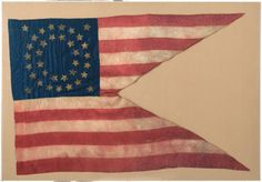 Military & Patriotic:Civil War, Civil War Era 35-Star Guidon....