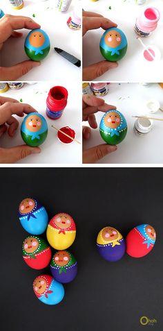 DIY Matryoshka Easter Eggs Tutorial