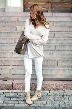 White on white and Louis Vuitton Neverfull