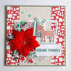 cardmaking / Pohľadnica Krásne Vianoce