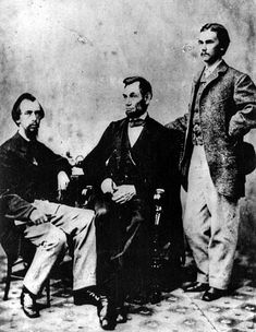 President Arbraham Lincoln, center, with his secretaries in John Hay is seen standing at right. American Revolutionary War, American Civil War, American History, World War I, World History, John Hay, Kate Jackson, Civil War Photos, National Archives