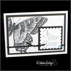 Trauerkarte - Schmetterling