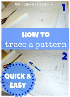 Sewing For Beginners Easy Learn how to trace a sewing pattern - a quick and easy sewing hack to make your beginner sewing projects super easy! See more sewing tips and tutorials on Applegreen Cottage. Sewing Hacks, Sewing Tutorials, Sewing Crafts, Sewing Tips, Sewing Blogs, Upcycled Crafts, Sewing Basics, Sewing Ideas, Techniques Couture
