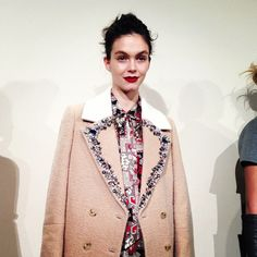 embellished coat at JCrew FW 2013
