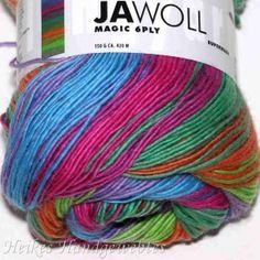 Jawoll Magic 6-fach Grün-Pink-Blau