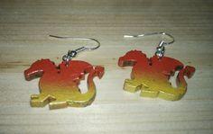 dragon earrings de tecnoart21 en Etsy