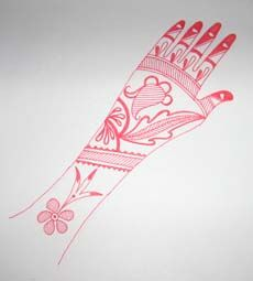 Learn to make henna designs for Karva Chauth step by step.  Design 1