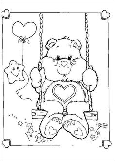 Tenderheart Bear coloring page. You can choose a nice coloring page from CARE BEARS coloring pages for kids. Enjoy our free coloring pages! Bear Coloring Pages, Colouring Pics, Cartoon Coloring Pages, Coloring Pages To Print, Printable Coloring Pages, Adult Coloring Pages, Coloring Sheets, Coloring Pages For Kids, Coloring Books