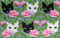 Cat Painting - Here's Looking At You by Pat Scott