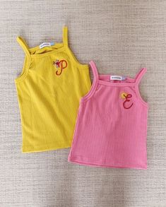Girl's Ribbed Knit Lounge Set with custom chainstitching monograms