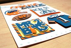 University of Florida Football Themed Scrapbooking Stickers