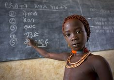 How wonderful that more children around the world have more opportunities for education. At school, Hamer Tribe, Ethiopia  --Eric Lafforgue Photography