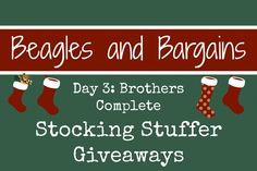Stocking Stuffer Giveaway Day 3: Brothers Complete #ad #StockingStufferGiveaways #BrothersComplete | http://www.beaglesandbargains.com/stocking-stuffer-giveawy-brothers-complete/