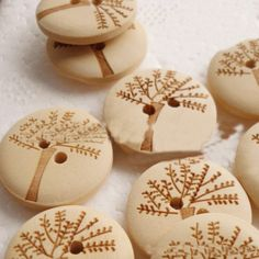 Find More Buttons Information about 50pcs 20/25/30mm trees Pattern 2 Holes round Wooden Buttons for diy Sewing clothing Accessories natural Wood Button handmade art,High Quality accessories for kitchen cabinets,China accessories for iphone 4 Suppliers, Cheap accessories mitsubishi from Fashion MY life on Aliexpress.com