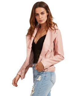 Shop Pink Long Sleeve Lapel Zipper Jackets online. SheIn offers Pink Long Sleeve Lapel Zipper Jackets & more to fit your fashionable needs.